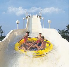 Fly down water slides at Myrtle Waves Water Park in Myrtle Beach, South Carolina.