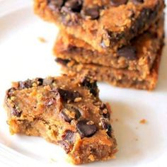 Chocolate Chip Chickpea Blondies  Flourless-Moist-Gooey-SIMPLE, & NO added refined sugar! . . . {These actually are REALLY good---chickpeas & all!} . .  Made another batch with my kids  this afternoon! . PIN it! http://cleanfoodcrush.com/chocolate-chickpea-blondies/ .  Ingredients:  Makes 16 bars  1 (15 oz.) can garbanzo  beans /chickpeas, rinsed well (find bpa free can if possible) 1/2 cup almond butter  1/3 cup pure maple syrup or raw honey  1.5 tsp real vanilla extract  1/2 tsp sea...