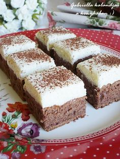 Krémes tejbegríz szelet My Recipes, Dessert Recipes, Cooking Recipes, Favorite Recipes, Hungarian Desserts, Hungarian Recipes, Cake Cookies, Food And Drink, Sweets