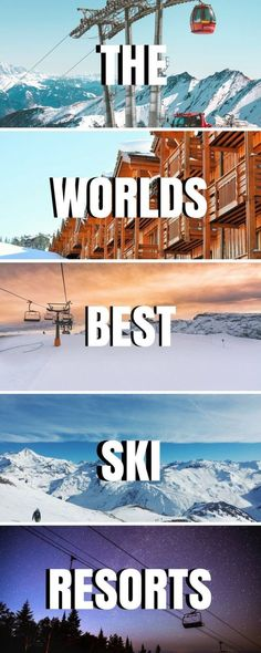 Wondering where to ski this winter? We've got you covered! With the best ski resorts in the USA, Canada, Europe & beyond, let us help plan your trip! ***** Best ski resorts in the USA Holiday Destinations, Vacation Destinations, Dream Vacations, Vacation Ideas, Ski Europe, Ski Austria, Ski Canada, Best Ski Resorts, Ski Resorts France