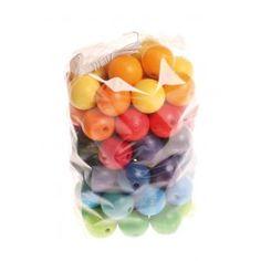 Perles multicolores en bois 20 mm