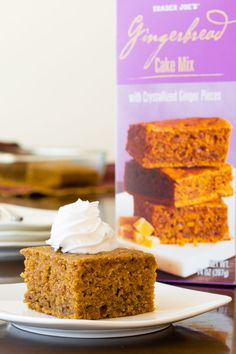 Trader Joe's Baking Mixes Review (Dairy-Free Options) - Gingerbread Cake pictured
