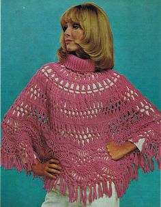 Hey, I found this really awesome Etsy listing at https://www.etsy.com/listing/198836324/crochet-poncho-pattern-ladies-hairpin