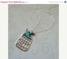 Silver+Birdcage+Necklace+/+Swallow+jewelry+/+by+vintageandglam,+$22.10