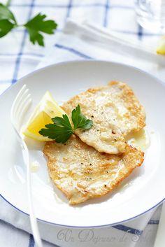 Escalope de veau au citron (piccata) comme en Italie FEITO, bom gosto da acidez do limao fiz com peru Veal Recipes, Cooking Recipes, Healthy Recipes, Appetisers, Mediterranean Recipes, Appetizers For Party, Italian Recipes, Carne, Healthy Eating
