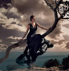 isle of dreams: maryna linchuk by vincent peters for uk harper's bazaar september 2015 | visual optimism; fashion editorials, shows, campaigns & more!
