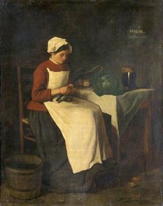 The Young Housewife. François Bonvin (1817–1887) National Museum Wales, National Museum Cardiff.