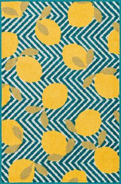 Tilley Blue / Yellow 2Ft 5In X 3Ft 9In Hearth Rug
