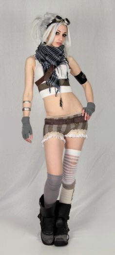 I will never pull off this outfit as a whole, but I like the accessories... the accessories I can do. :)