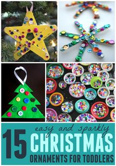 15 Easy Christmas Ornaments for Toddlers Toddler Approved!: 15 Easy Christmas Ornaments for Toddlers Easy Christmas Ornaments, Handmade Christmas, Felt Christmas, Diy Ornaments For Kids, Snow Ornaments, Christmas Decorations, Dough Ornaments, Homemade Ornaments, Christmas Ideas