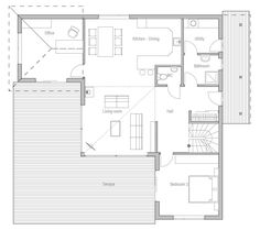 Small house plan CH17 home design plans. House Plan