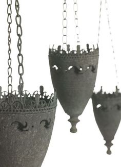 """For our """"medieval"""" idea of a spare bedroom. Viserys Hanging Metal 6""""   Candle Holders   $8.99 each / 3 for $7.99  each"""