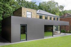 Richmond House by AR Design Studio Architects - London, England. Fibre Cement Cladding, Single Storey Extension, Roof Extension, Architects London, Extension Designs, Aluminium Doors, Georgian Homes, London House, House Extensions