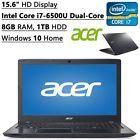 """♡☼ #Acer Aspire 15.6"""" Laptop Intel Core i7-6500U 8GB RAM 1TB HDD #DVDRW HDMI Webcam http://ebay.to/2gLdj3N"""