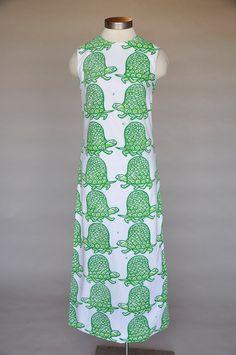 Fabu tortuga mumu! Turtle Tryst Dress  vested gentress cotton maxi dress by terrasita