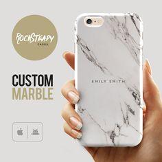 Custom Name Marble Phone case personalised от RockSteadyCases
