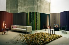 Elle Decor – Boschivo – Federico Cedrone - Photographer nice editorial shot with the ROD sofa by Piero Lissoni for Living Divani