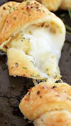 Cheesy Garlic Stuffed Garlic Butter Crescent Rolls