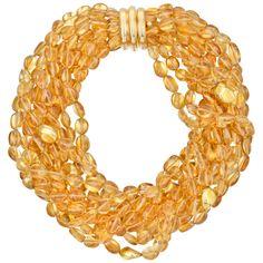Estate Verdura 10-Strand Citrine Bead Necklace. $10,000