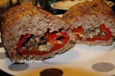 gevuld gehaktbrood met zoete paprika-mozzarella