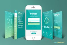 Free iPhone Perspective App Screen Mockup on Behance