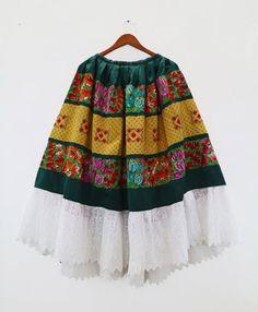 Vestido oaxaqueño de fiesta T91 party dress por shkaalacoleccion