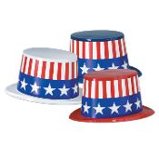Norton's U.S.A. offers a range of America-themed party supplies, including paper plates, hats, straws, streamers and even tiaras.
