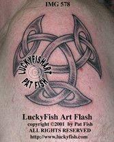 Open Triskle Celtic Tattoo Design 1
