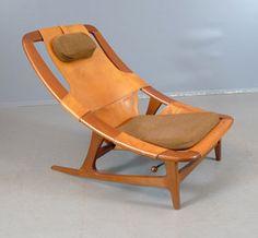 Arne Tideman Ruud. Easy chair, 'Holmenkollen', Norcraft. Norway, c. 1960