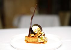 Recipe by Michael Noonan. Head Chef at The Brasserie at The Spa Hotel, Ribby Hall Village Desserts To Make, Fall Desserts, Delicious Desserts, Burnt Butter Recipe, Dessert Platter, Joy Of Cooking, Star Food, Beautiful Desserts, Exotic Food