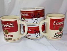 Lot of 4 Vintage Campbell Soup Co Mugs Cups Kids Dining Westwood Souper Stars Soups For Kids, Stars On Ice, Cooking Supplies, Soup Mugs, Mug Cup, My Ebay, Cups, Dining, How To Make