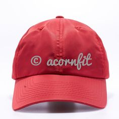 116027633d77f Nylon Dad Hat Wholesale  Red . Wholesale HatsCustom HatsDad HatsCustom  EmbroiderySnapback HatsBaseball CapPit BullDadsPitbull