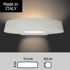 LAMPADA IN GESSO A LED 22W 24V EFFETTO GRAFFIO DA INCASSO A PARETE ...
