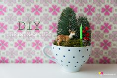 DIY christmas cups by Kim Welling
