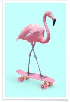 Skate Flamingo - Paul Fuentes - Premium poster
