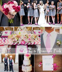 grey and primrose pink wedding idea 2014 Grey Bridesmaids, Grey Bridesmaid Dresses, Wedding Colors, Wedding Styles, Wedding Ideas, Mothers Dresses, Gray Weddings, Summer Wedding, Braid
