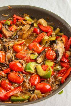 Artichoke Hearts, Caramelized Onions and Roasted Portobello Mushroom Pasta 2