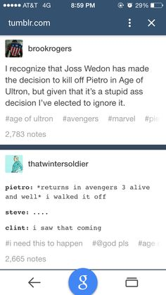 We did the sane for Coulson and look what happened! There is still hope!