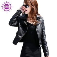 New Fashion Women Leather Jacket Oblique Zipper Motorcycle Trendy Casual Leather Short Section Leather Thin Coat by NYCUrbanWear on Etsy