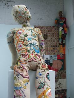 Hannah Reilly - Detail on 'Handmade in Britain' installation, as part of Glasgow School of Art Degree Show 2012