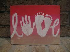 Idées pour la fête des mères : peinture de bébé - Confidences de maman