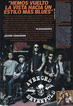 La Heavy, España, septiembre 2013 (Avenged Sevenfold, a7x, m. shadows, entrevista)