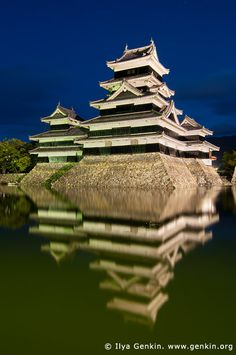 Matsumoto Castle at Night, Japan