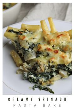 This creamy spinach pasta bake is, in my opinion, the definition of comfort food! It's easy to make, with simple ingredients you probably already have in your home. Also, it's creamy and covered with molten golden cheese! But, you may ask, is this glorified mac and cheese? Probably… Am I still calling it fancy? Well, sure! Whatever you call it, I hope you try this recipe and enjoy some comforting pasta! Click the link to find this delicious recipe! #pastabake #vegetariandinner #comfortfood Vegetarian Pasta Recipes, Vegetarian Cheese, Spinach Pasta Bake, Creamy Spinach, Comfortfood, Mac And Cheese, Beets, Yummy Food, Stuffed Peppers