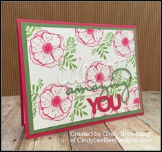 SU Amazing You And Celebrate You Thinlits – Sale-a-bration 2018 | Cindy Lee Bee Designs