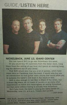 Trolling Nickelback