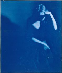 """Paul Burty Haviland, Young Woman Sitting (Florence Peterson), Cyanotype (from arsvitaest via Pictures) """""""" Critique D'art, The Hierophant, Kind Of Blue, Alfred Stieglitz, Cyanotype, Blue Aesthetic, Shades Of Blue, Florence, Portrait Photography"""