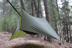 The Mountainfly tarp is built for those that want the simplicity and convenience of a standard hex tarp but with extra end-coverage when the weather gets nasty. Camping Hammock Tent, Camping Cot, Camping Life, Outdoor Camping, Camping Outdoors, Outdoor Gear, Bushcraft Camping, Camping Survival, Survival Tools