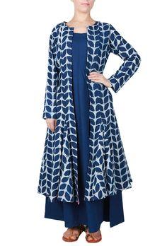Bagru Print Cape with Dress