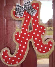 Alabama Burlap Door Hanger